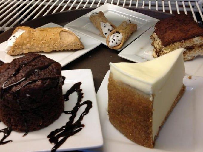 Italian desserts at Maria's Pizzeria and Restaurant in Cape Coral.
