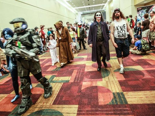 Saturday Aug. 17, 2013, gamers of all ages walked in the Gen Con costume parade at the Indiana Convention Center.