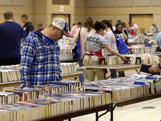 Book lovers search for new titles and authors during