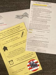The materials included in an absentee voting package from the Boone County Clerk's office. Missouri lawmakers have eased the rules on absentee voting because of the COVID-19 pandemic.