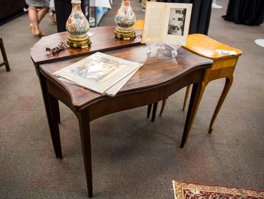 A card table that once belonged to John Marshall at