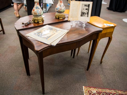 A card table that once belonged to John Marshall at Case Antiques. Case Antiques is hosting its first auction in their newly expanded gallery headquarters located at 4310 Papermill Drive on July 14, 2018.