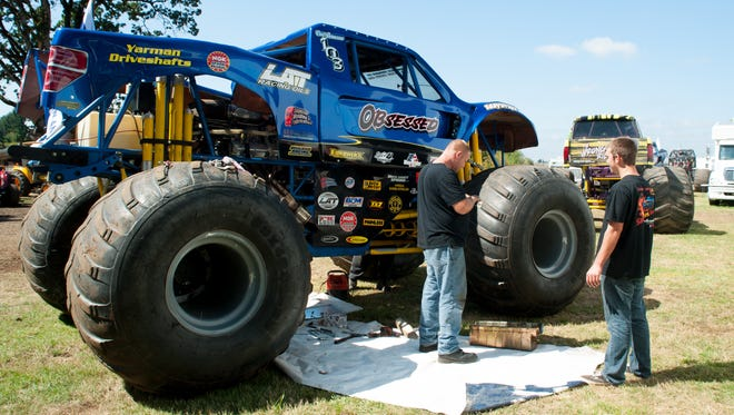 Monster trucks are just one feature of the Sublimity Harvest Festival.