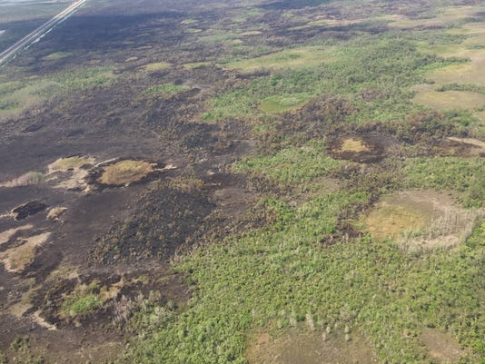 #file Aerial view of Anhinga Wildfire