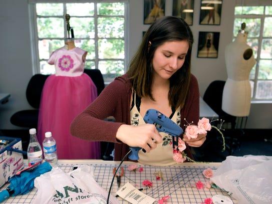 O'More College of Design junior Emily James makes a