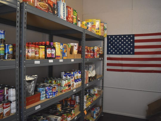 Residents in need visit Love INC's food pantry and