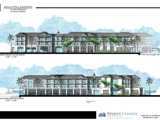 A building rendering shows the plan for a three-story complex at the site of Kelly's Fish House. The old fishery is likely to close this summer.