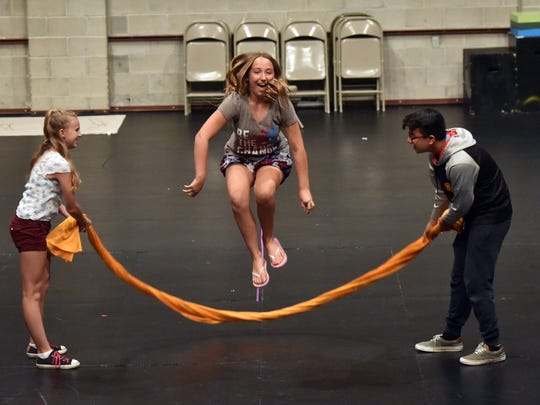 Middle-schoolers enjoy summer theater camp at Two River Theater in Red Bank.