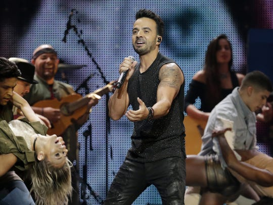 Luis Fonsi, seen on April 27, 2017, got the tattoo