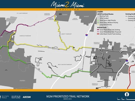 The prioritized routes for the Miami 2 Miami Connection.