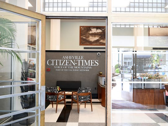 The Asheville Citizen Times building at 14 O Henry