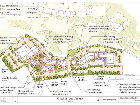 Site map of proposed Corral de Tierra Shopping Village