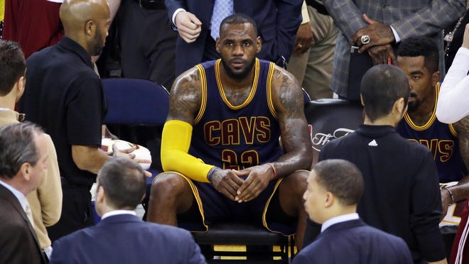 Cleveland's LeBron James sometimes sits when he is healthy.
