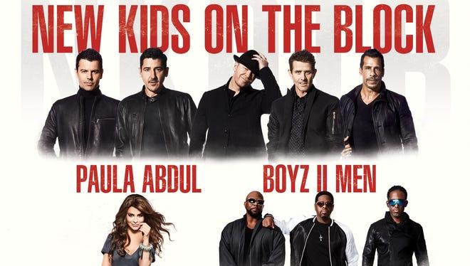 New Kids On the Block, Paula Abdul and Boyz II Men will perform at Bridgestone Arena on May 17, 2017.