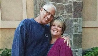 This undated photo provided by Randy Budd shows he and his wife, Sharon Budd, a middle school language arts teacher. A rock-dropping incident on a stretch of rural interstate in Pennsylvania in July 2014 left Sharon Budd with severe head injuries.