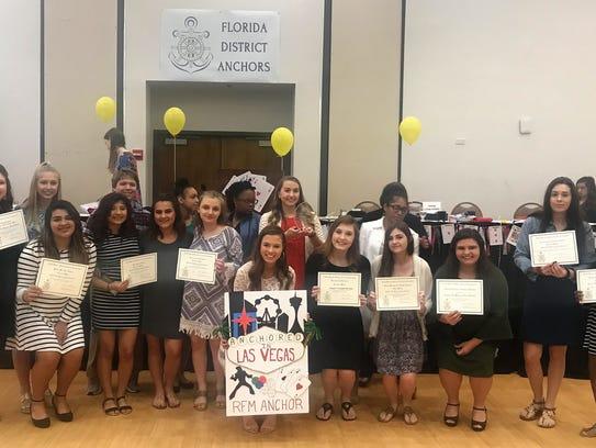 Robert F. Munroe Day School's Anchor Club was awarded
