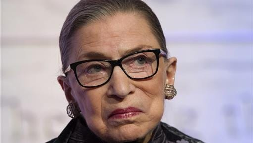 In this June 1 file photo, Supreme Court Justice Ruth Bader Ginsburg speaks in Washington.