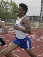 Salem senior Chaz Jeffress runs the 1,600 during the recent Division 1 track and field regional at P-CEP.