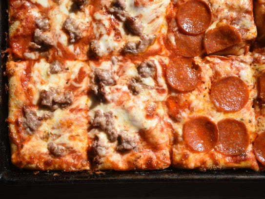 The Sicilian pizza from Lodi Pizza with half pepperoni