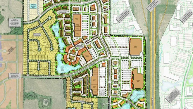 During a meeting earlier this summer, Scott Andersen, representing Andersen Development, presented this land use plan for Tiffin's new Park Place. The plan would become reality if a number of steps, including a future land developer's agreement is approved this fall.