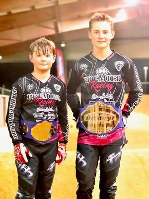 BMX bike racing brothers Crosby, left, and Marek Backer.