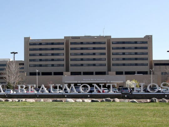 Beaumont Hospital is seen from 13 Mile Road in Royal Oak. It ranked second among the 21 best Michigan hospitals.