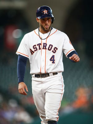 George Springer is batting .310 with 27 home runs and 66 RBI.