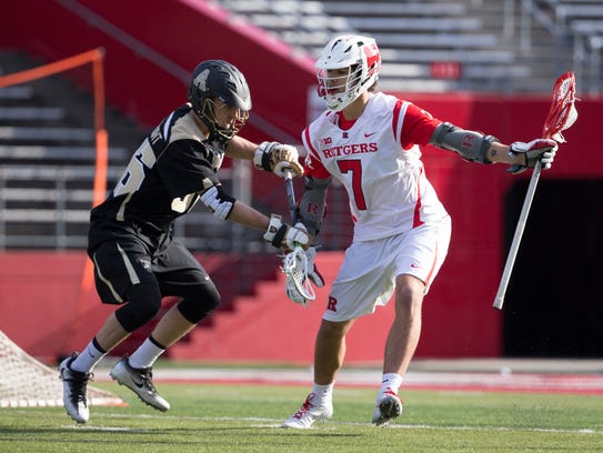 Junior attackman Jules Heningburg, shown here against