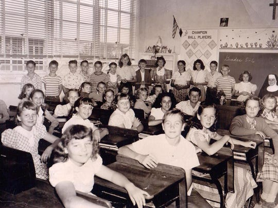 A fifth and sixth grade class posed for a picture in this undated photo.