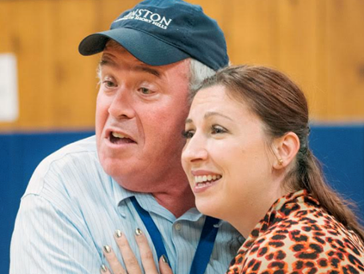 Peter Lewis as Rodolfo  and Justyna Germola as Mimi.