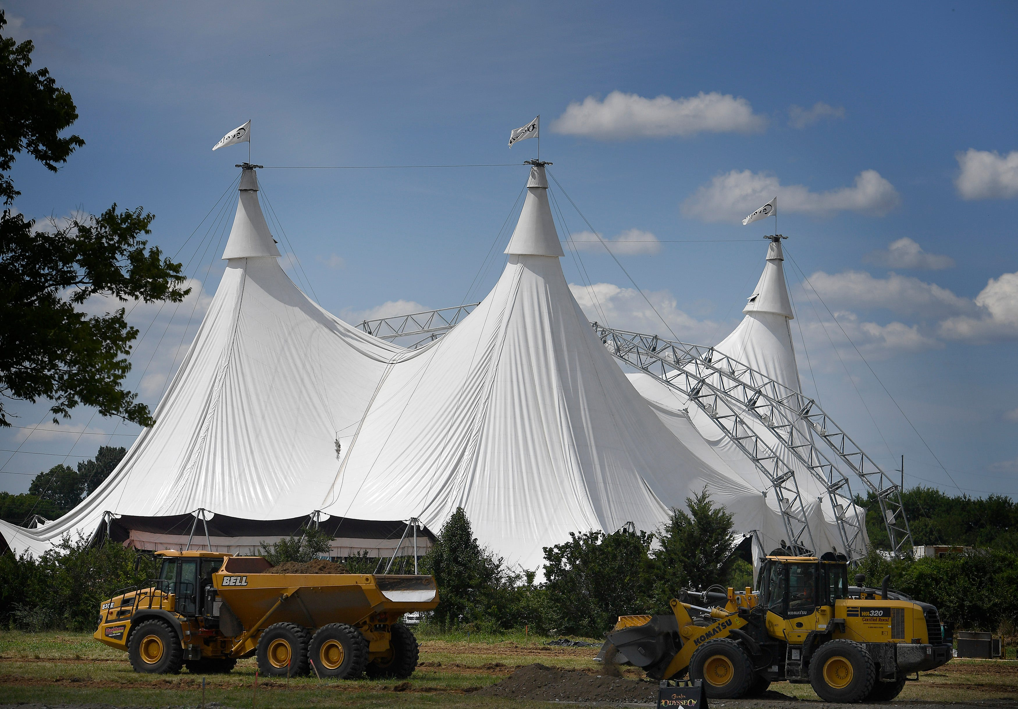 & Worldu0027s largest touring tent raised in Nashville for u0027Odysseou0027 show