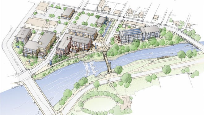 Muncie's White River Canal District proposal included this drawing.