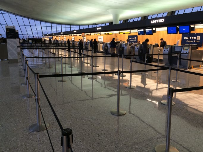 Dulles Airport in Virginia is nearly empty after thousands