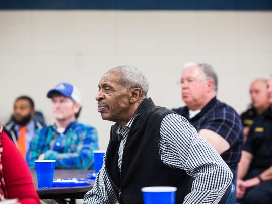 James Clinkscales, pastor of Royal Baptist Church, attends a Southeast Anderson Task Force meeting on Thursday.