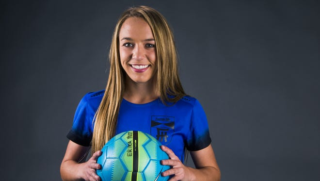 Fountain Hills senior forward Erika Yost is a finalist for the azcentral.com Sports Awards Small Schools Girls Soccer Athlete of the Year award.