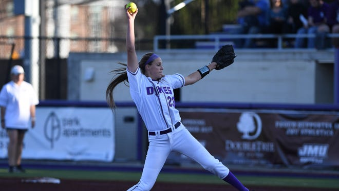 Megan Good has been named the CAA pitcher of the year for the fourth time in her career.