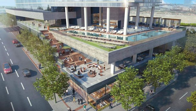 A rendering of the W hotel planned at 12th and Pine in the Gulch.