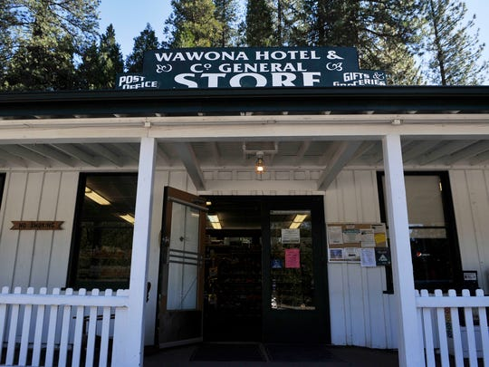 This photo shows the Wawona Hotel General Store Monday, Feb. 29, 2016, in Yosemite National Park.