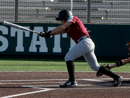 Midwestern State's Tucker Caraway grounds out against