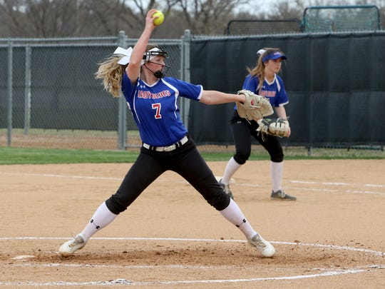 Graham sophomore Emma Southerland pitched the Lady Blues to a District 6-4A title for a second straight season.