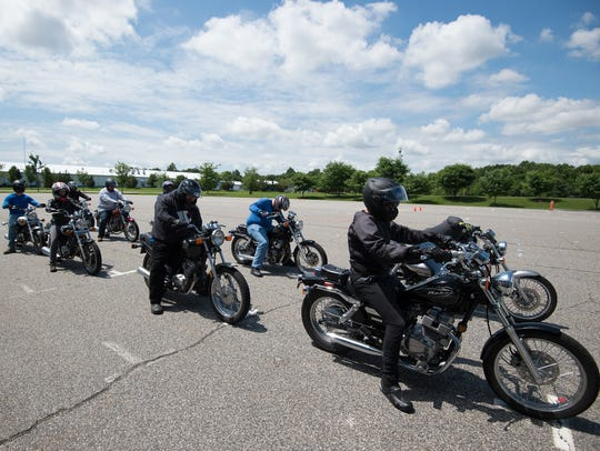 Basic riders course at DelDOT in Dover where they teach