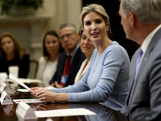 Ivanka Trump leads a meeting on human trafficking in