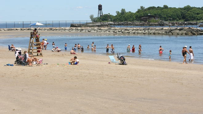 Half the sand on the beach of Glen Island Park was washed away during Superstorm Sandy in 2012, but FEMA has allocated millions to repair the park.