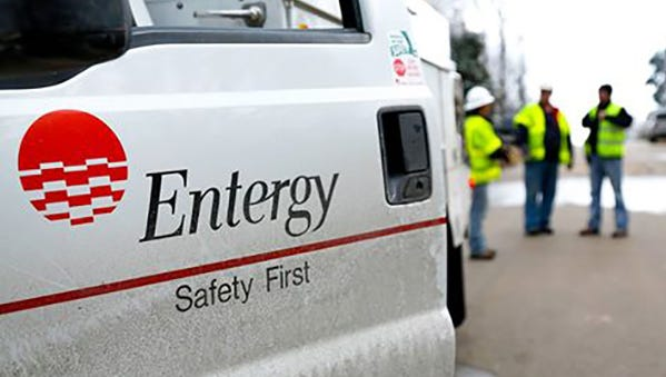 An Entergy vehicle is shown in this file photo.