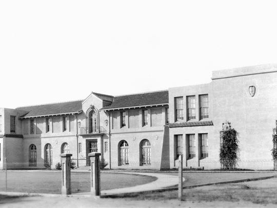 The old Gilbert High School during the 1920s.