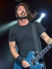 Dave Grohl leads the Foo Fighters during their headlining