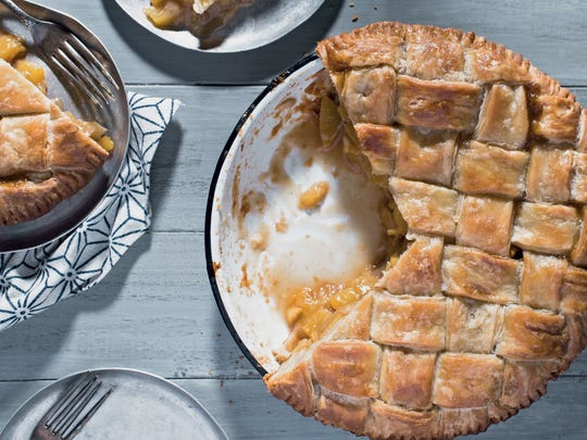 "Bourbon Rosemary Peach Pie from ""The Fearless Baker,"""