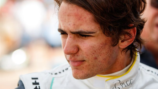 IndyCar driver Pietro Fittipaldi during practice for the Phoenix Grand Prix at ISM Raceway.