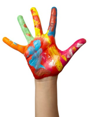 Painted child's hand