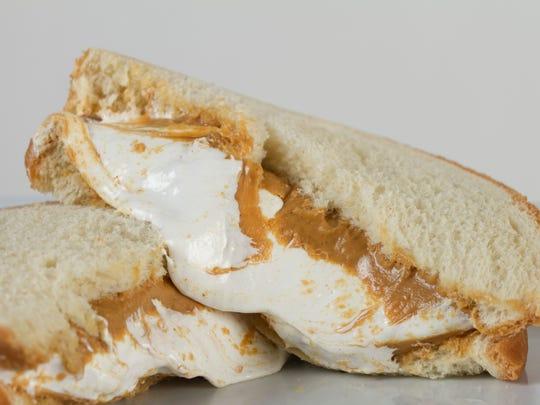 The classic fluffernutter sandwich is a kid favorite.